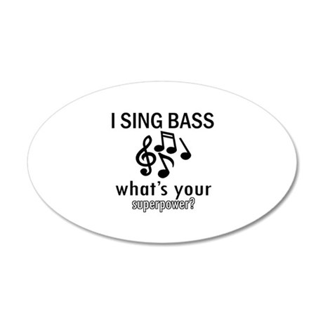 Cool Bass Designs 20x12 Oval Wall Decal