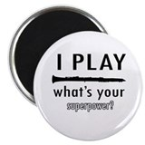 "Cool Clarinet Designs 2.25"" Magnet (10 pack)"
