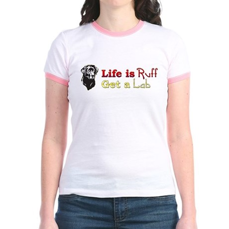 Life is Ruff Lab Jr. Ringer T-Shirt