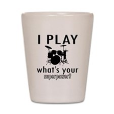 Cool Drums Designs Shot Glass