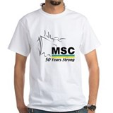 MSC Military Sealift Command Ash Grey T-Shirt T-Sh