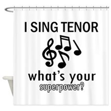 Cool Tenor Designs Shower Curtain