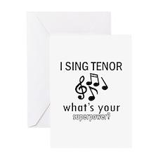 Cool Tenor Designs Greeting Card