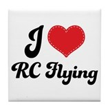 I Love RC Flying Tile Coaster