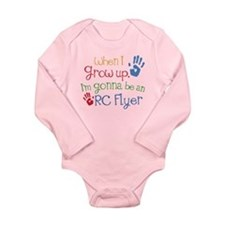 Future RC Flyer Long Sleeve Infant Bodysuit