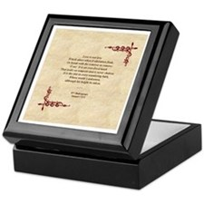 Sonnet 116 Keepsake Box, Will Shakespeare