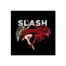 "Slash apocalyptic love Square Sticker 3"" x 3"""