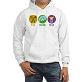 Cute Eat Sleep Read Hoodie
