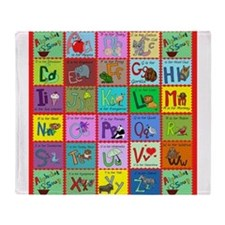 alphabet soup creations Throw Blanket