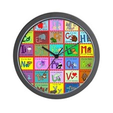 alphabet soup creations Wall Clock