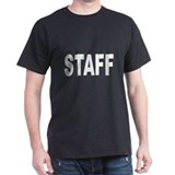 Staff (Front) Black T-Shirt