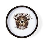 Lanville County Sheriff Wall Clock