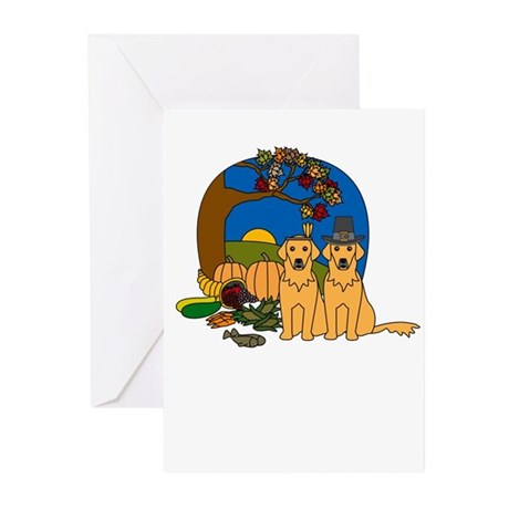 Golden Thanks for Friends Greeting Cards (10 Pk)