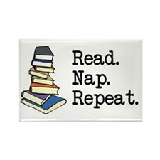 Read. Nap. Repeat. Rectangle Magnet