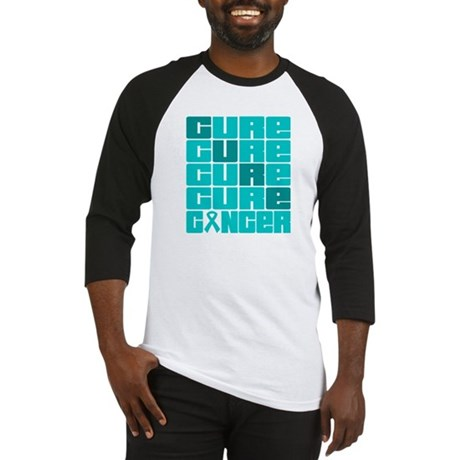 CURE Ovarian Cancer Collage Baseball Jersey