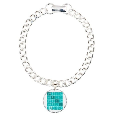 CURE Ovarian Cancer Collage Charm Bracelet, One Ch