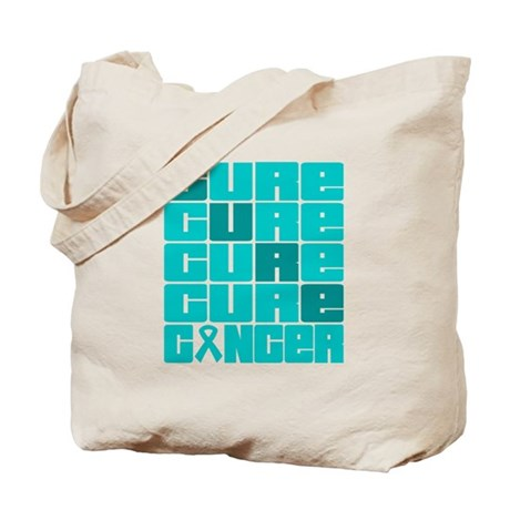 CURE Ovarian Cancer Collage Tote Bag