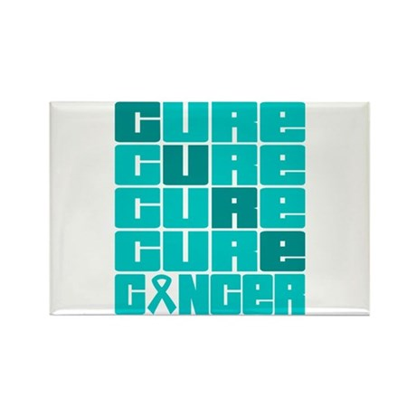 CURE Ovarian Cancer Collage Rectangle Magnet
