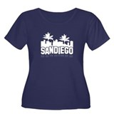San Diego Sign Women's Plus Size Scoop Neck Dark T