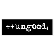 double-plus ungood laptop sticker