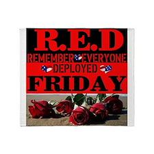 R.E.D Friday Throw Blanket
