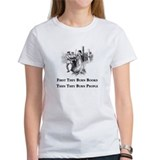 First They Burn Books Ash Grey T-Shirt T-Shirt
