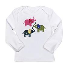 Elephants Long Sleeve Infant T-Shirt
