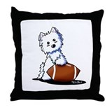 Westie Football Star Throw Pillow
