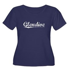 Aged, Glendive Women's Plus Size Scoop Neck Dark T