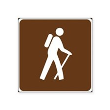 Hiking Trail Sign Sticker