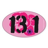 13.1 Flowery Bumper Decal