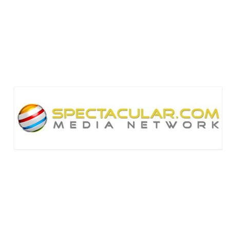 Spectacular.com Media Network Logo 20x6 Wall Decal