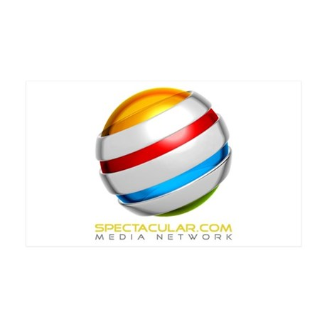Spectacular.com Media Network Logo 35x21 Wall Deca