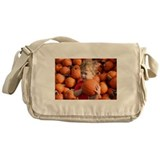 Wyatt in the pumpkin patch Messenger Bag