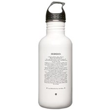The DESIDERATA Poem by Max Ehrmann. Water Bottle