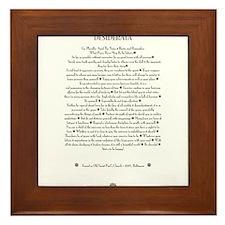 The DESIDERATA Poem by Max Ehrmann. Framed Tile