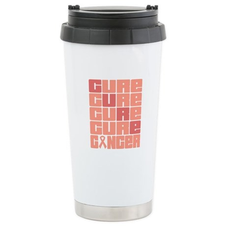 CURE Uterine Cancer Collage Ceramic Travel Mug