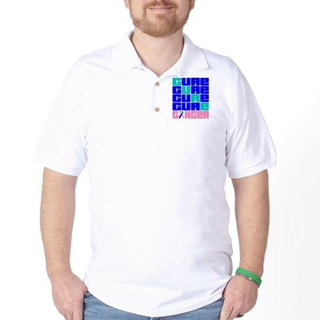 CURE Thyroid Cancer Collage Golf Shirt
