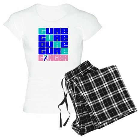 CURE Thyroid Cancer Collage Women's Light Pajamas