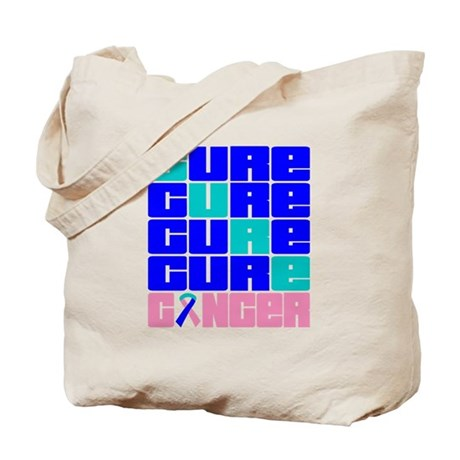 CURE Thyroid Cancer Collage Tote Bag