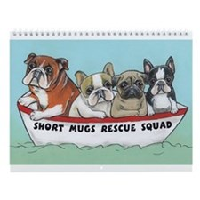 Cute French bulldog Wall Calendar