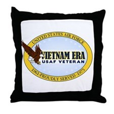 Vietnam Era Vet USAF Throw Pillow