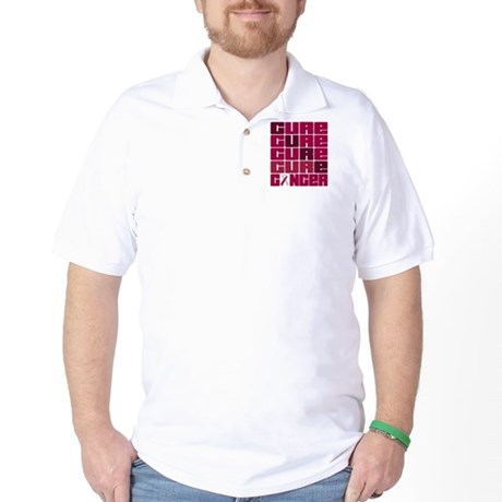 CURE Throat Cancer Collage Golf Shirt