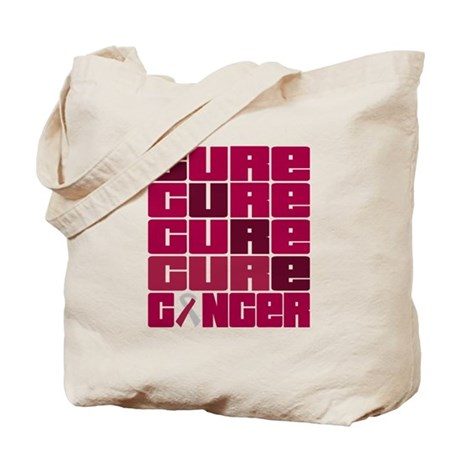 CURE Throat Cancer Collage Tote Bag