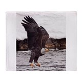 Eagle, Fish in Talons Throw Blanket