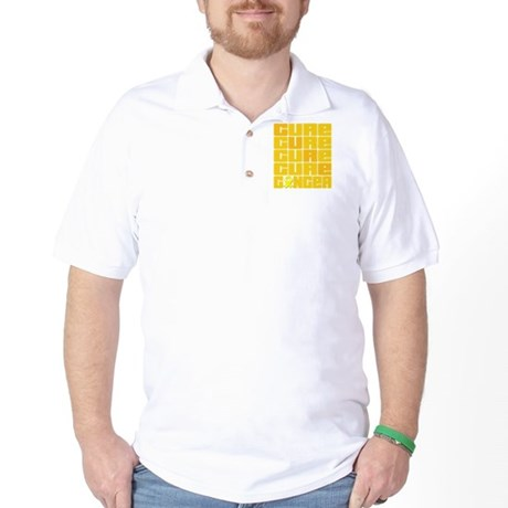 CURE Testicular Cancer Collage Golf Shirt