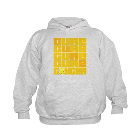 CURE Testicular Cancer Collage Kids Hoodie