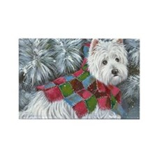 Patches Rescue Westie Rectangle Magnet