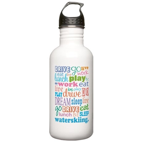 Waterskiing Gift Stainless Water Bottle 1.0L