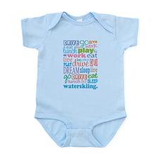 Waterskiing Gift Infant Bodysuit